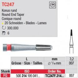 Fraises à finir en C.T. - TC247F.314.007