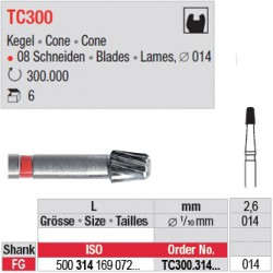 Fraises à finir en C.T. - TC300.314.014