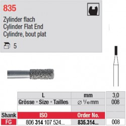 835.314.008-Cylindre,bout plat