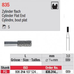 835.314.009-Cylindre,bout plat