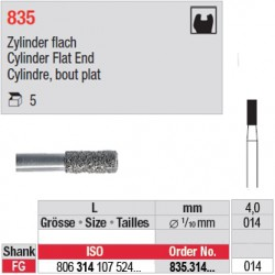 835.314.014-Cylindre,bout plat