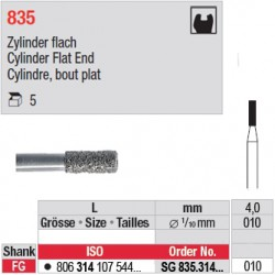 SG 835.314.010-Cylindre,bout plat