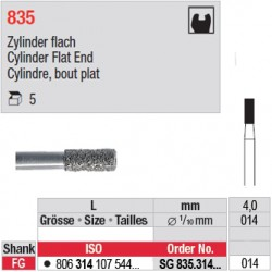 SG 835.314.014-Cylindre,bout plat