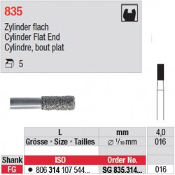 SG 835.314.016-Cylindre,bout plat