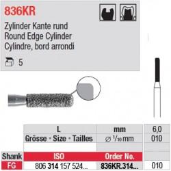 836KR.314.010-Cylindre, bord arrondi