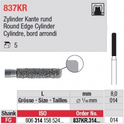 837KR.314.014-Cylindre, bord arrondi