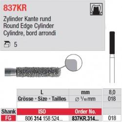 837KR.314.018-Cylindre, bord arrondi