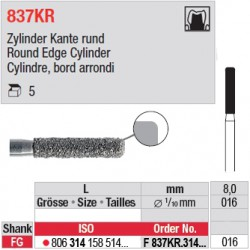 F 837KR.314.016-Cylindre, bord arrondi