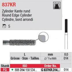 G 837KR.314.014-Cylindre, bord arrondi