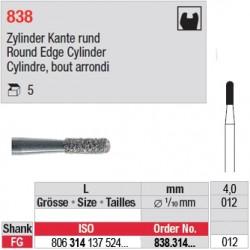838.314.012 - Cylindre, bout arrondi