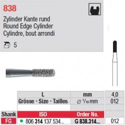 G 838.314.012 - Cylindre, bout arrondi