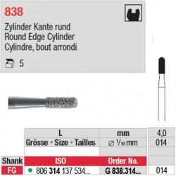 G 838.314.014 - Cylindre, bout arrondi
