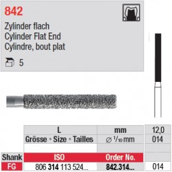 842.314.014 - Cylindre, bout plat