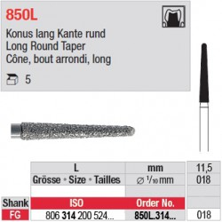 850L.314.018 - Cône, bout arrondi, long