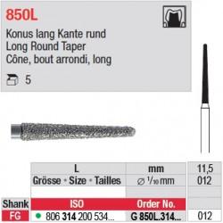 G 850L.314.012 - Cône, bout arrondi, long