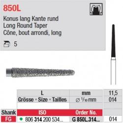 G 850L.314.014 - Cône, bout arrondi, long