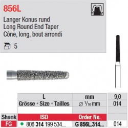 G 856L.314.014 - Cône, long, bout arrondi