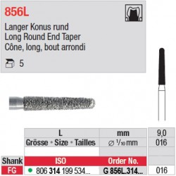 G 856L.314.016 - Cône, long, bout arrondi