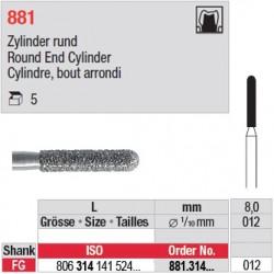 881.314.012 - Cylindre, bout arrondi