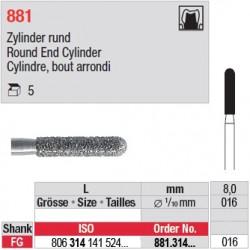881.314.016 - Cylindre, bout arrondi