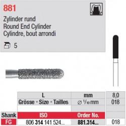 881.314.018 - Cylindre, bout arrondi