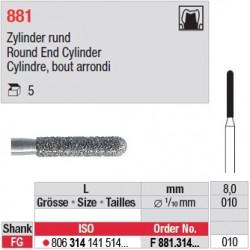 F 881.314.010 - Cylindre, bout arrondi