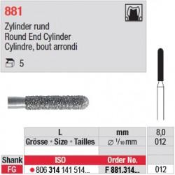 F 881.314.012 - Cylindre, bout arrondi