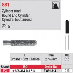 F 881.314.016 - Cylindre, bout arrondi