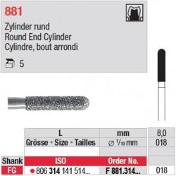 F 881.314.018 - Cylindre, bout arrondi