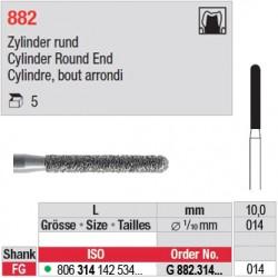 G 882.314.014 - Cylindre, bout arrondi