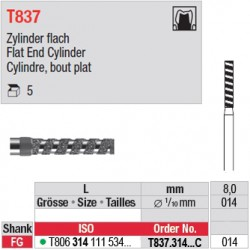 T837.314.014C - Cylindre, bout plat