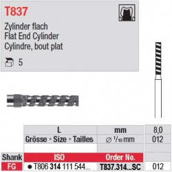 T837.314.012SC - Cylindre, bout plat