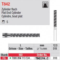 T842.314.018C - Cylindre, bout plat