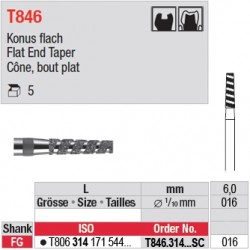 T846.314.016SC - Cône, bout plat