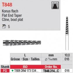 T848.314.016C - Cône, bout plat