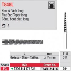 T848L.314.014C - Cône, bout plat, long