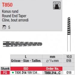 T850.314.018C - Cône, bout arrondi