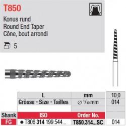 T850.314.014SC - Cône, bout arrondi