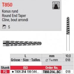 T850.314.018SC - Cône, bout arrondi