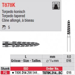 T878K.314.016SC - Cône allongé, à biseau