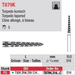 T879K.314.014C - Cône allongé, à biseau
