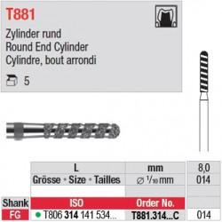 T881.314.014C - Cylindre, bout arrondi