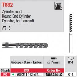 T882.314.014C - Cylindre, bout arrondi