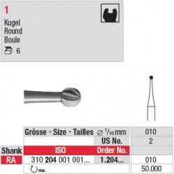 1.204.010 - Fraise en acier - Boule