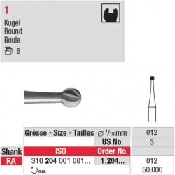 1.204.012 - Fraise en acier - Boule