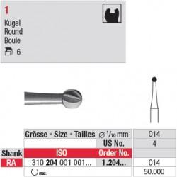 1.204.014 - Fraise en acier - Boule