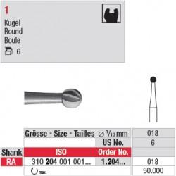 1.204.018 - Fraise en acier - Boule