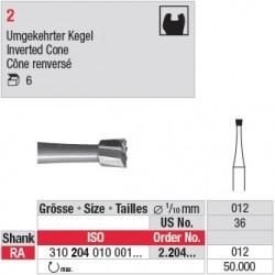 2.204.012 - Fraise en acier - Cône renversé
