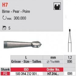H7.314.006 - Fraise carbure de tungstène - FG - Poire