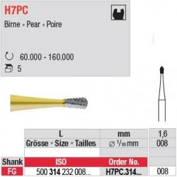 H7PC.314.008 - Fraise carbure de tungstène - FG - Poire